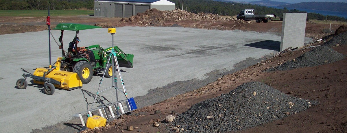 Synthetic Grass Tasmania laser grading hire for synthetic fields